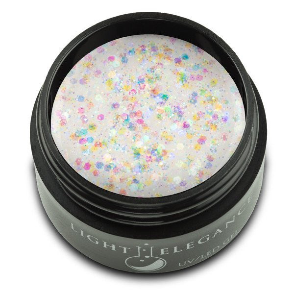 Light Elegance, UV/LED Glitter Gel, G856E, North Pole, 17ml KK