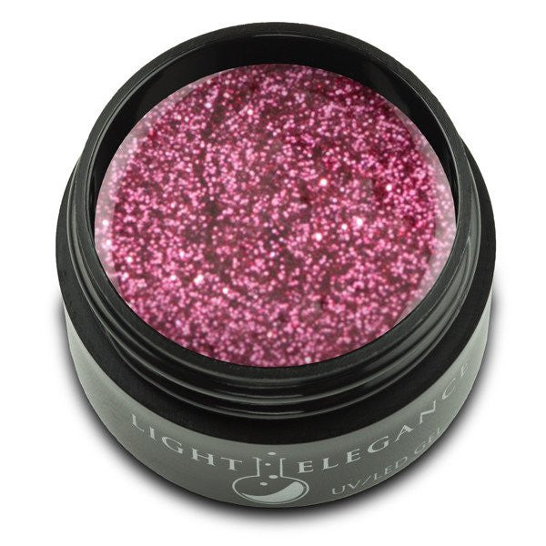 Light Elegance, UV/LED Glitter Gel, G863E, Pink Satin, 17ml KK