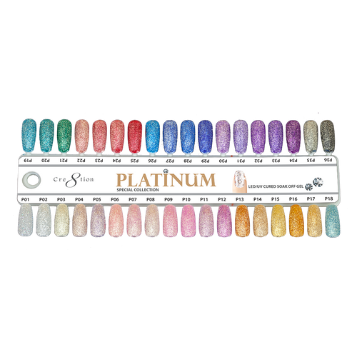 Cre8tion Platinum Gel Polish, 0.5oz, Tips Sample