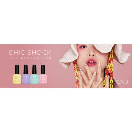 CND Shellac Gel, Chic Shock The Collection, Full line of 4 colors (from 92223 to 92227, Price: $10.95/pc)