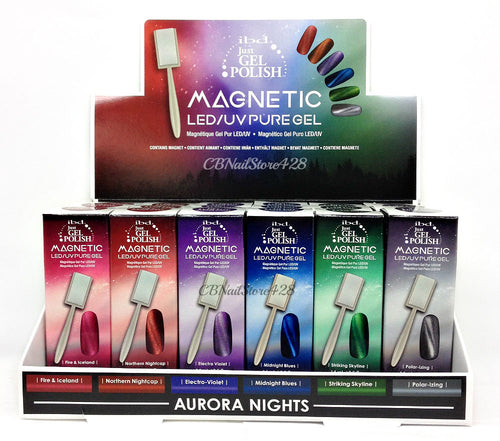 IBD Just Gel Polish, Aurora Nights Collection, 0.5oz Fulline of 6 colors (66595 - 66600)
