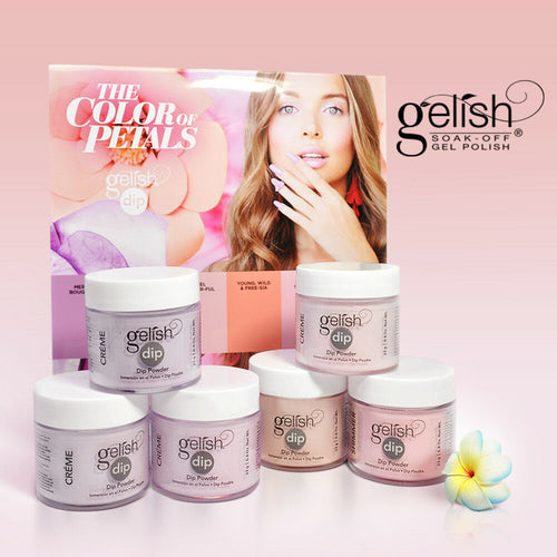 Gelish Dipping Powder 1, The Color Of Petals Collection, 0.8oz, Full line of 6 colors (From 1610340 to 1610345) OK0115LK