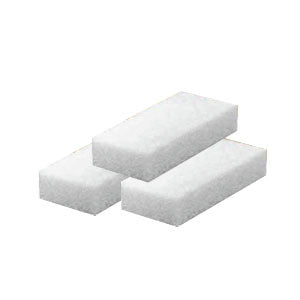 Cre8tion Disposable Short Pumice Sponge, 28006, WHITE, 100 pcs./box BB