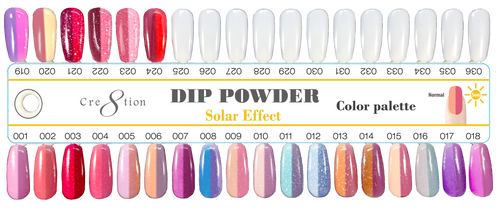 Cre8tion Sun Change Dipping Powder, 1oz, Full Line of 24 colors Pro