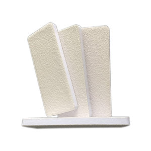Cre8tion White Sand Foot File, 60/60, 25pcs./pack - 60packs/case, 28008