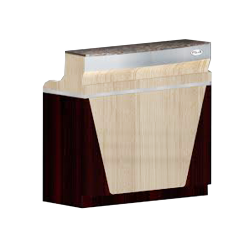 SPA Reception Desk, Ash/Rosewood/Aluminum, C-46ARA (NOT Included Shipping Charge)