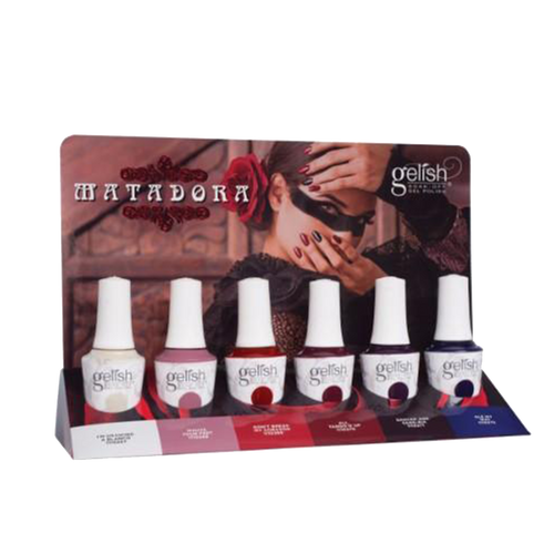 Gelish Gel 7, Matadora Collection Full Line Of 6 Colors (from 1110267 to 1110272, Price: $7.95/pc)