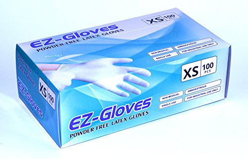 EZ-Gloves, Powder-Free Latex Gloves, Size XS OK1207