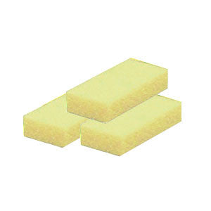 Cre8tion Disposable Short Pumice Sponge, 28005, YELLOW, 100 pcs./box BB