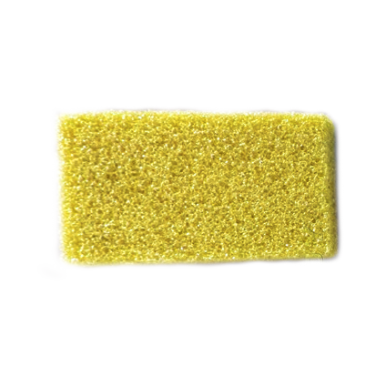 Airtouch Disposable Mini Pumice Sponge, YELLOW, 400 pcs./box, 4boxes/case OK0714VD