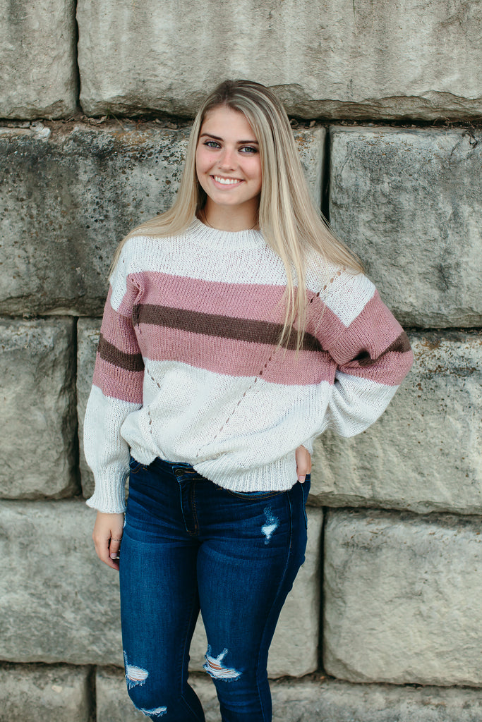Ivory Pink Sweater