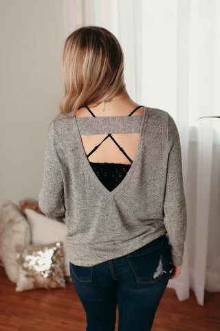 Knit Top with Cut Out Back