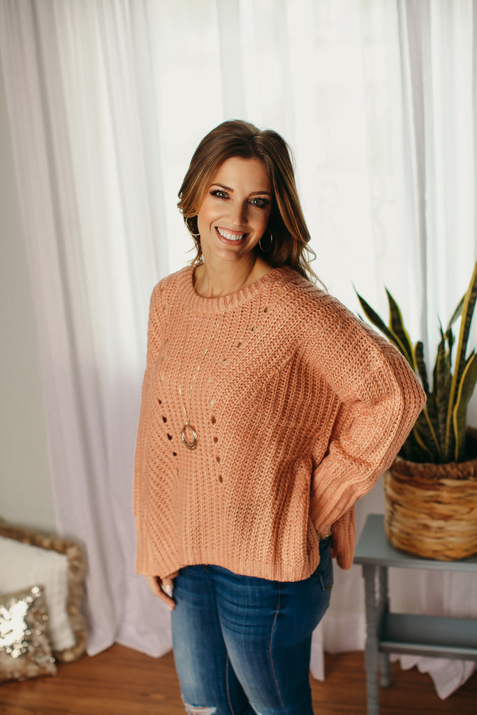 Dusty Rose Oversized Sweater