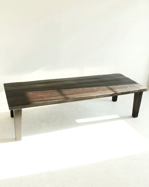 Minimal Reclaimed Wood Rustic Coffee Table // Black