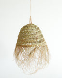 Handwoven Moroccan Lampshade with Fringes / Round // Medium