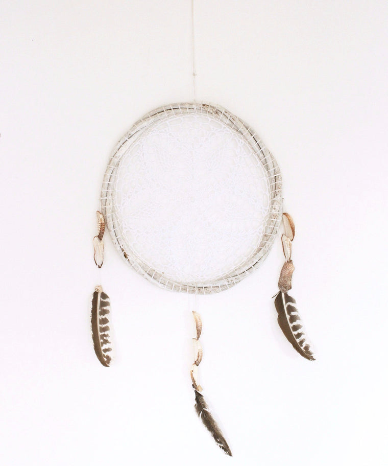 Sayulita Dream Catcher // White / Large