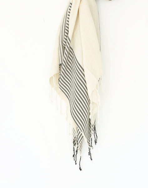 hand loomed striped turkish towel