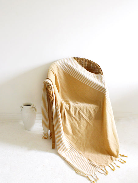 Sahra Turkish Towel // Mustard