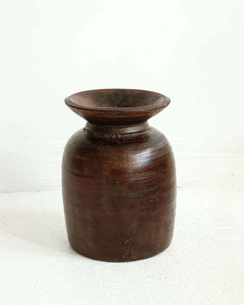 Rustic Wooden Vase / Extra Large // 03