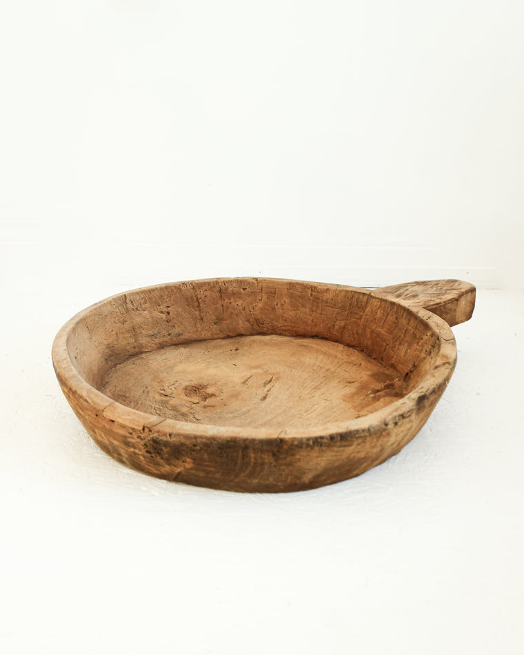 Rustic Antique Wooden Bowl / Large // Style 5