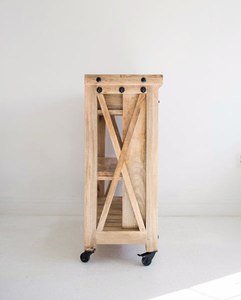 recycled wood kitchen trolley wooden kitchen island