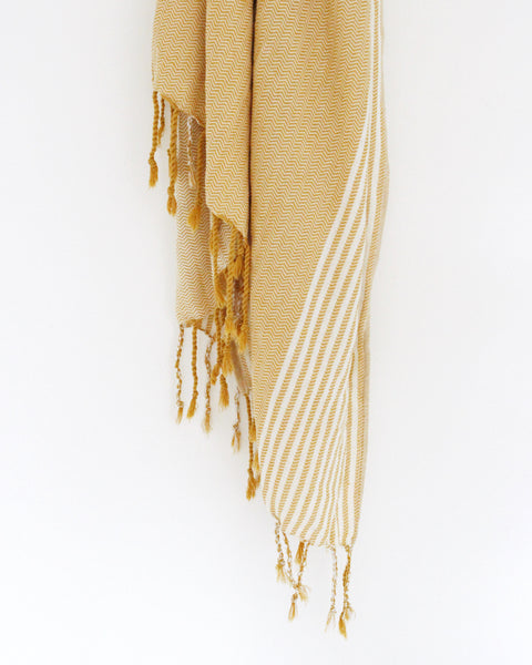 Sahra Mustard Turkish Towel
