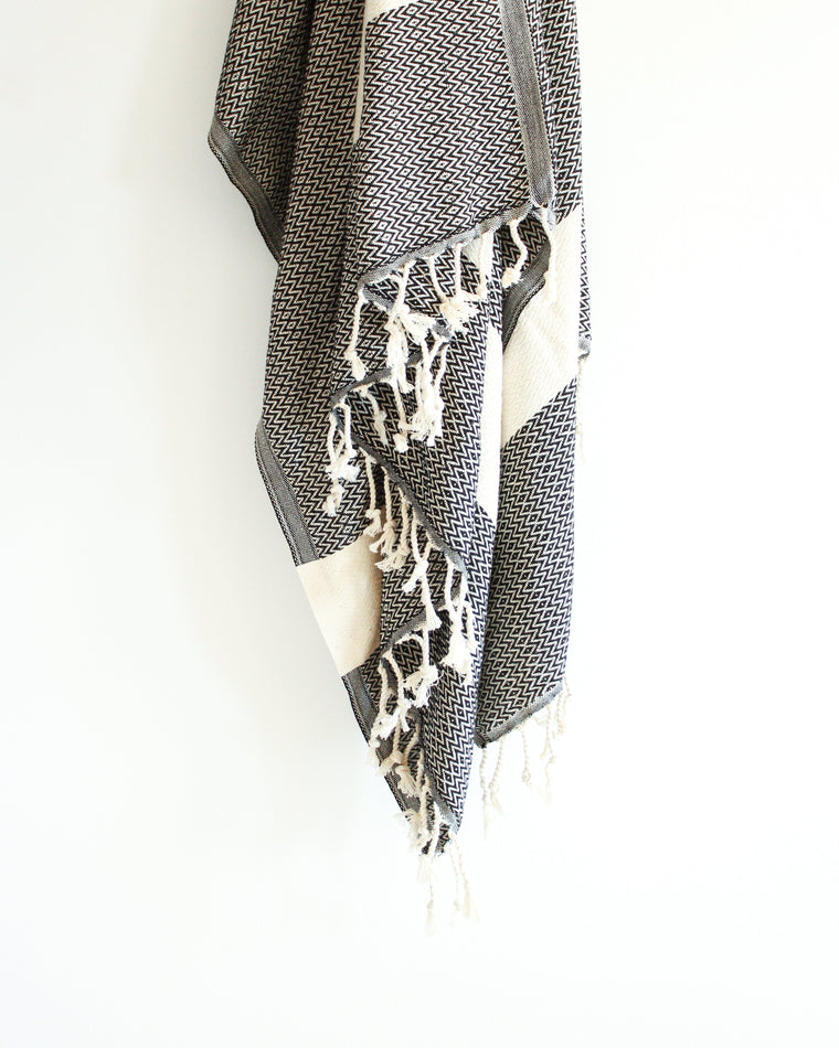 Playa Turkish Hammam Towel //  Black