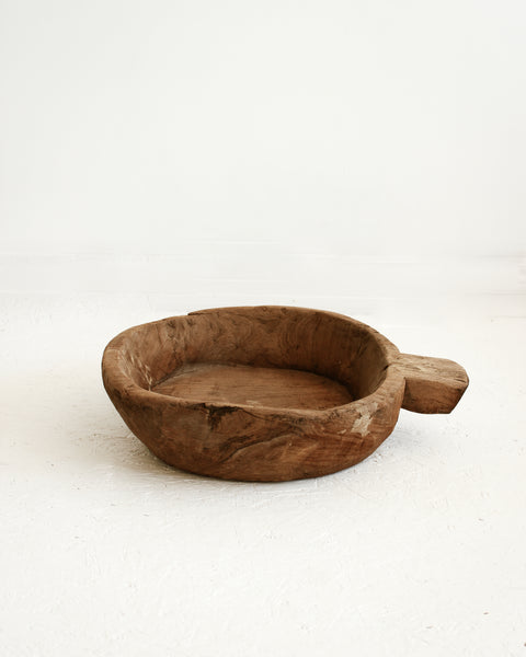 Rustic Antique Wooden Bowl / Large // Style 2