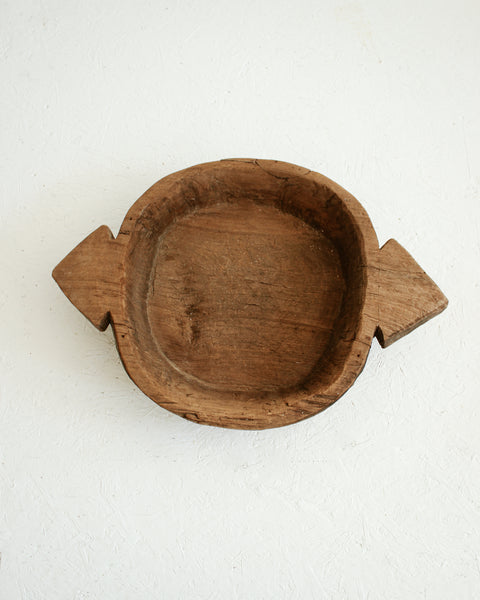 Rustic Antique Wooden Bowl / Large // Style 1
