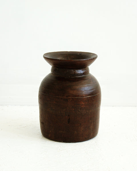 Rustic Wooden Vase / Style 2 // Large