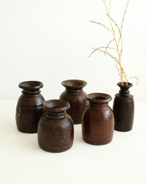 Rustic Wooden Vase / Large // 02