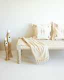 White Indian Charpoi Daybed / Bench // Large