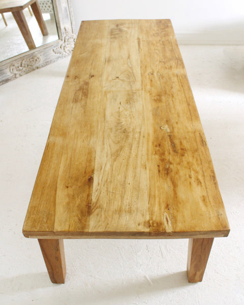 Minimal Reclaimed Wood Rustic Coffee Table Natural