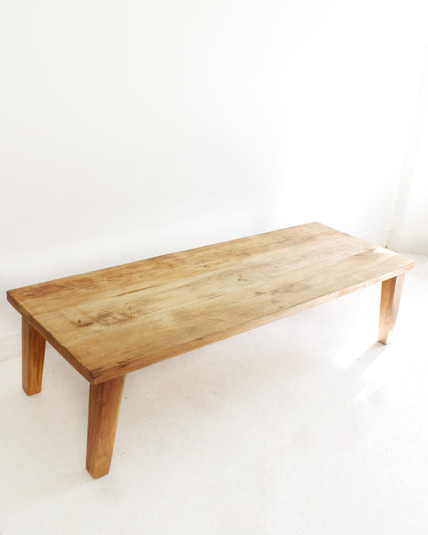 Minimal Reclaimed Wood Rustic Coffee Table // Natural