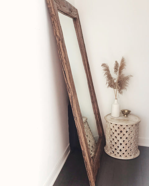 Reclaimed Wood Floor Mirror // Extra Large