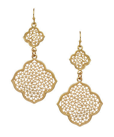 Taja Net Dangle Earrings