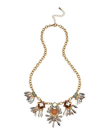 Gold Crystal Apryl Necklace