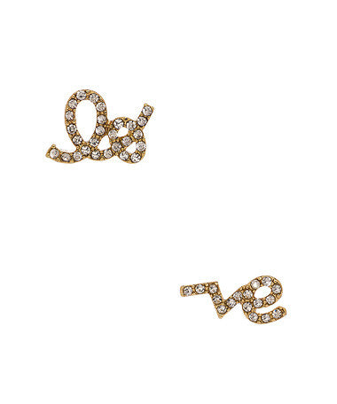 Crystal Love Studs