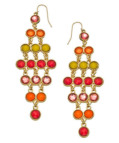 Sunshine and Gold Chandelier Earrings