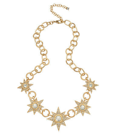 Single Starburst Bib Necklace