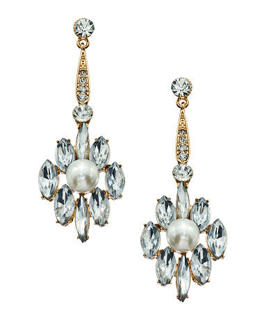 Deco Pearl Drop Earrings