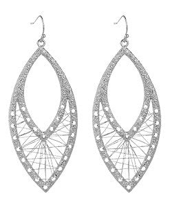 Silver Wire Weave Earrings