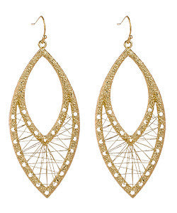 Gold Wire Weave Earrings