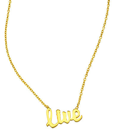 "Inspirational ""Live"" Pendant Necklace"