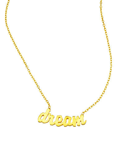 "Inspirational ""Dream"" Pendant Necklace"