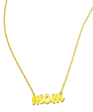 "Personalized ""Mom"" Pendant Necklace"