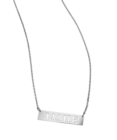Bar Cutout Necklace