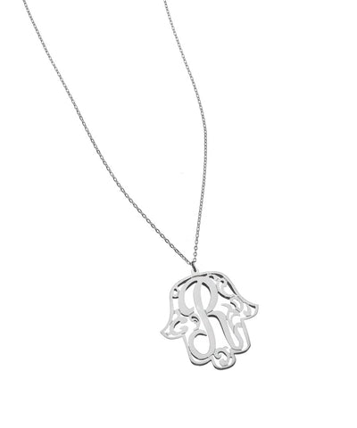 Hamsa Monogram Necklace