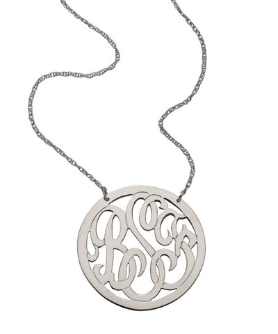 Medium Circle Monogram Necklace