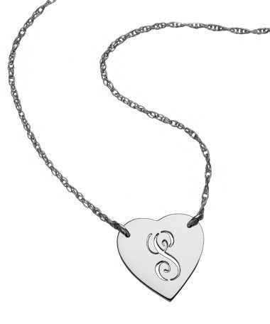 Heart Initial Cutout Necklace